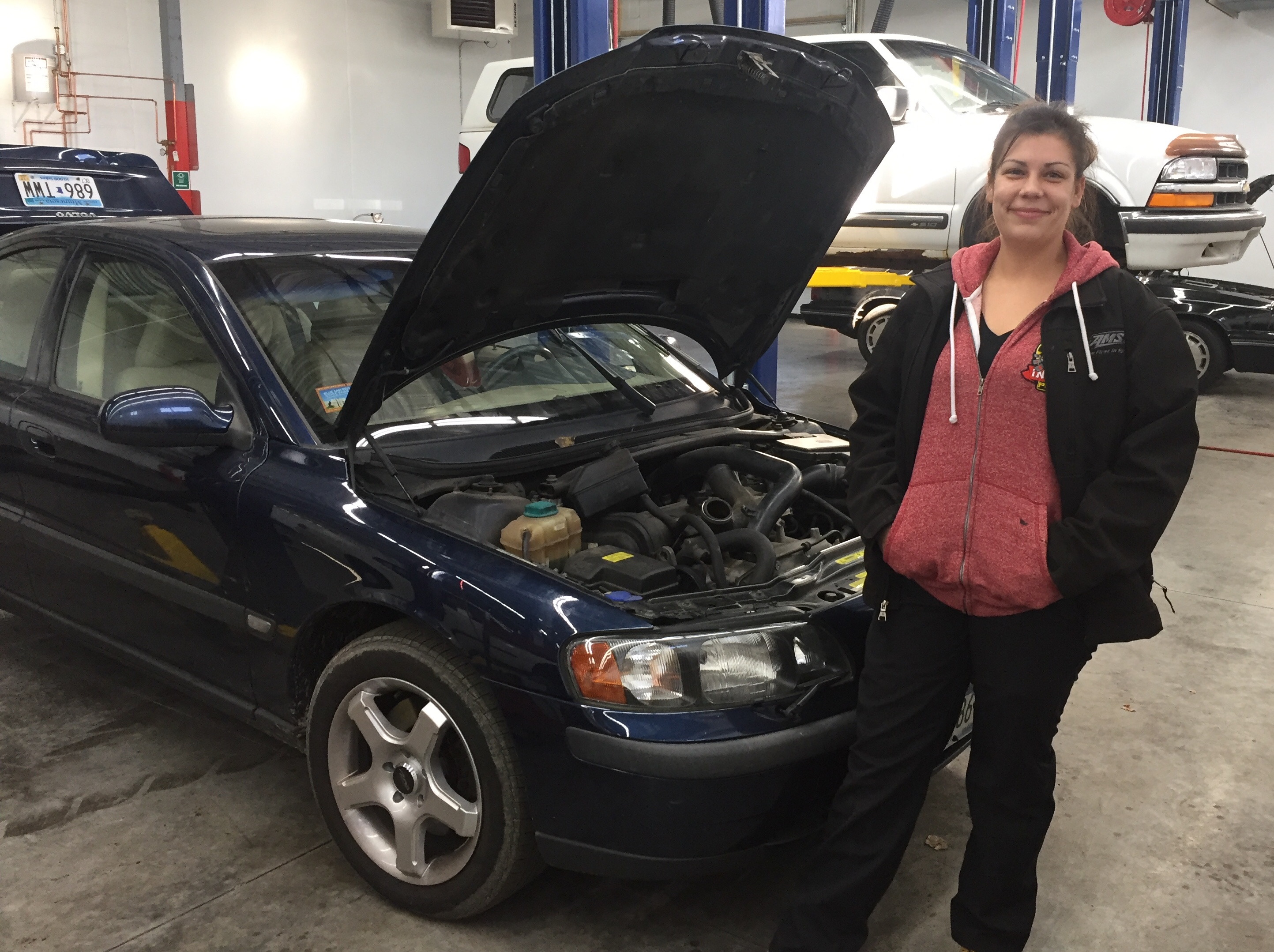 Shawna with her latest car project